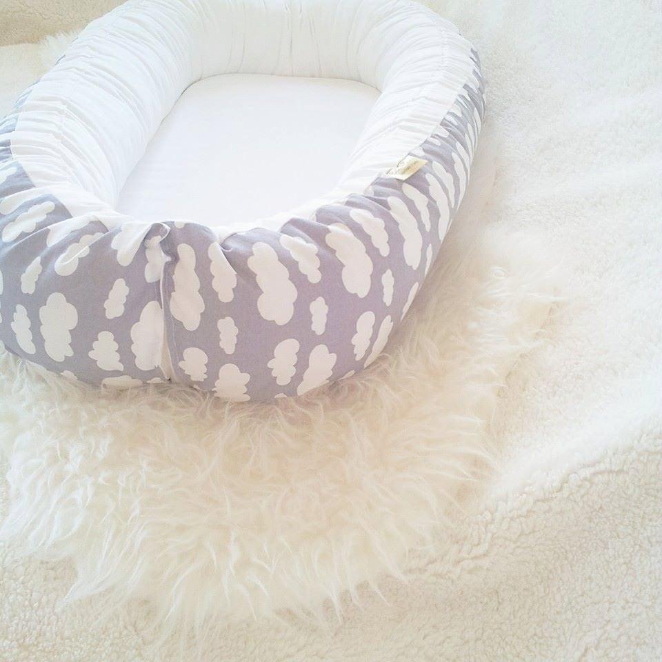 Wicker crib for sale durban - Grey White Clouds Babynest