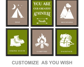 you are our greatest adventure nursery print, camping nursery art, camping baby boy nursery, camping toddler, adventure kids decor, outdoor