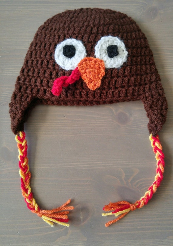 Crochet Turkey Cat Hat Pattern : Crochet Turkey Hat