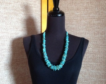 Turquoise Necklace, Vintage 80s.