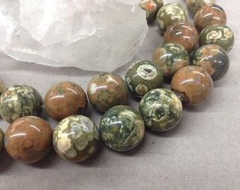 20mm Smooth Round ShRhyolite round beads