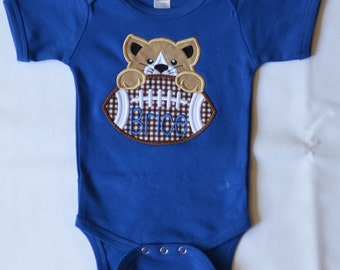 Personalized Football Wildcat Face Applique Shirt or Onesie