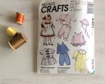 1989 Sewing Pattern for Baby Doll Clothes