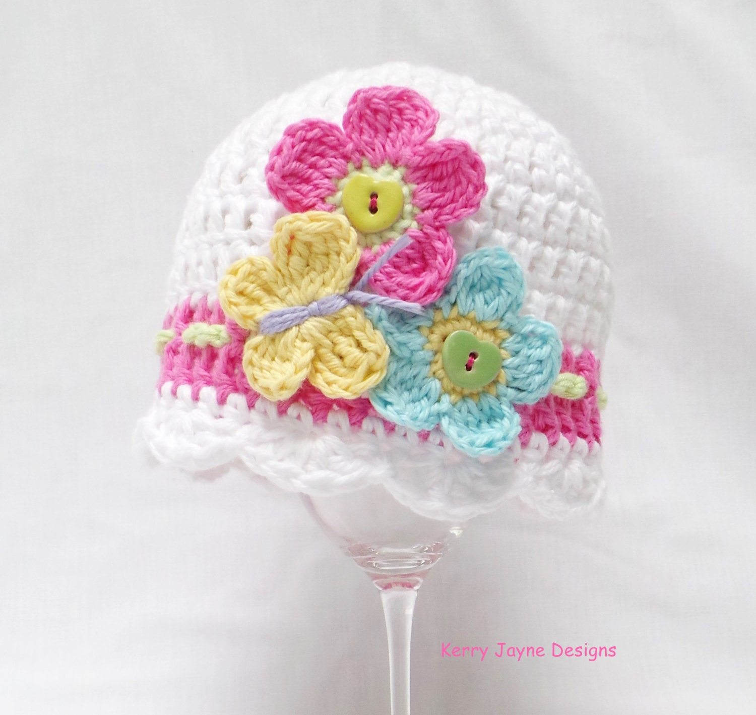 Baby crochet hat pattern flutter by baby hat butterfly and zoom bankloansurffo Choice Image