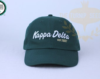 Kappa Delta Baseball Cap - Team Script - Custom Color Hat and Embroidery.