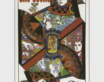 "11 X 14""  canvas art print~Vintage travel posters, Fly Twa to Las Vegas"