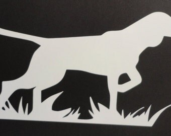 Pointer Hunting Dog Decal