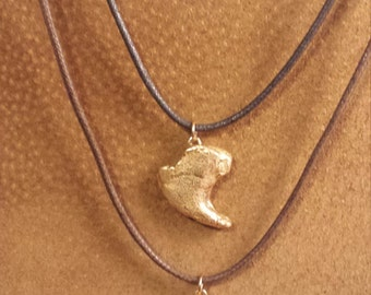 Fierce African Lion Claw Replica Pendant in Bronze Clay.