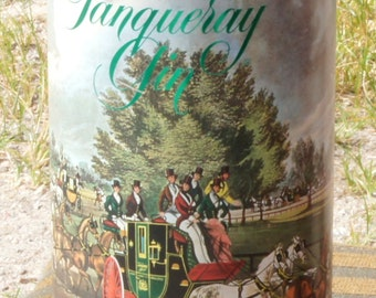 Tanqueray gin metal tin, container, 150th Anniversary 1980
