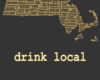 Drink Local- Massachusetts Beer T-shirt