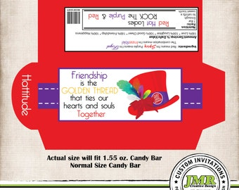 Candy Bar Wrapper, Red Hat Society Theme, Hattitude
