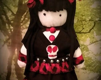 "Handmade Gothic cloth doll called ""Lee"""