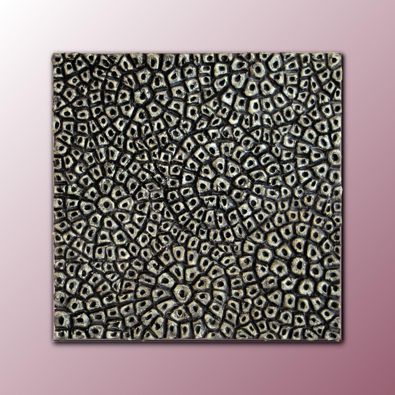 3d wall sculpture square decorative panel textured - Muur reliefpaneel ...