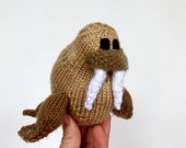 Walrus Knit Toy Pattern, PDF instant download pattern to knit your own Piet the Walrus Stuffed Animal