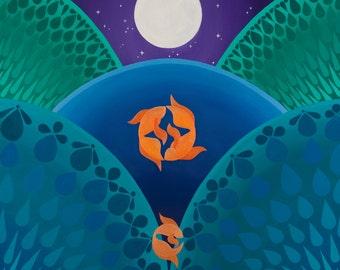 Goldfish Trinity fine art print
