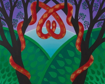 Scarlet Snakes fine art print