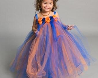 Flower girl dress - tutu dress -Baseball dress - empire dress - Infant/Toddler - Pageant dress - wedding - Sports themed dress - party dress