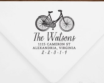 Return Address Stamp #39 - Wooden or Self-Inking - Personalized - Gift, Wedding, Newlywed, Housewarming - INCLUDES HANDLE