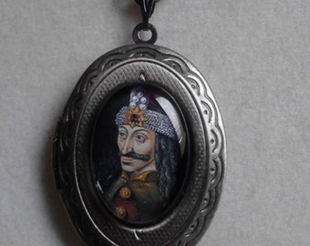 Vlad The Impaler inspired locket necklace