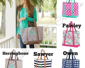 MONOGRAMMED TOTE, Carry on bag, Bridesmaid Gift - Personalized Teacher Gift - Personalized Tote Bag. Monogrammed Shopping Bag - Diaper bag