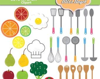Kitchen Utensils Art kitchen clip art | etsy