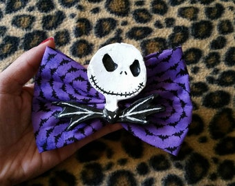 Jack Skeleton Hairbows