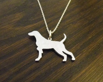 Pointer ( German) sterling silver pendant