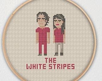 The White Stripes Jack White Meg White Cross Stitch Pattern