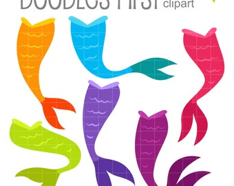 mermaid tail clipart etsy
