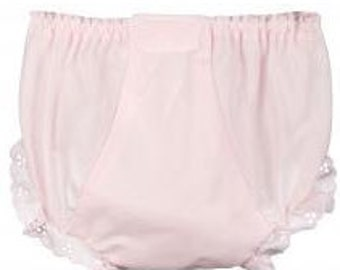 Sz 4 ~ Monogrammed Diaper Cover ~ Pink ~