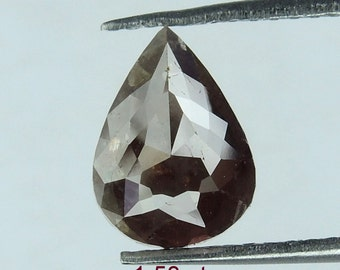 1.53 ct Natural Loose Diamond Pear Shape rose Cut Brown Color L610