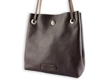 Leather shoulder bag/Leather bucket bag/handmade bucket bag/leather shoulder bag/brown leather bucket/leather handmade bag/leather women bag