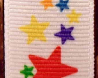 "2 Yards 7/8"" Adorable Party Star Print Grosgrain Ribbon"