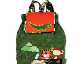 Stephen Joseph Signature Collection Safari Toddler Backpack Diaper Bag INCLUDES SHIPPING!!! PERSONALIZED