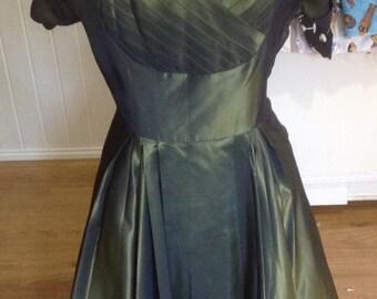 Vintage 1950's Shelf Bust Dress