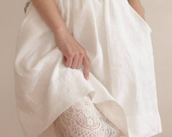 Womens underskirts, lining and chantilly lace underskirts, white underskirts, CollectionWN