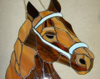 Horse Tiffany Style Stained Glass  Suncatcher