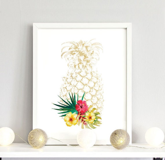 Pineapple decor pineapple home decor by off2marketprintables for Ananas dekoration