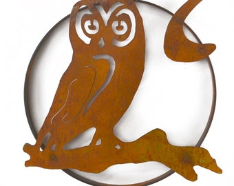 Owl on a Branch Metal Wall Sculpture, Wall Decoration WS1206