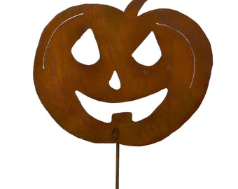Jack-o-Lantern Metal Yard Stake, Halloween Yard Art GS96
