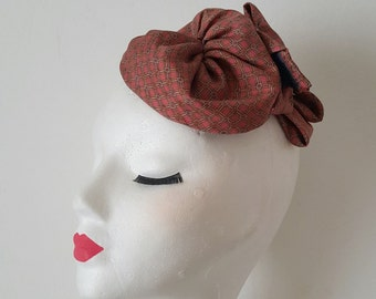 SALE 20% Cappellino Fascinator Hat 1940's 1950's Pin Up Rockabilly Vintage Inspired Repro Swing