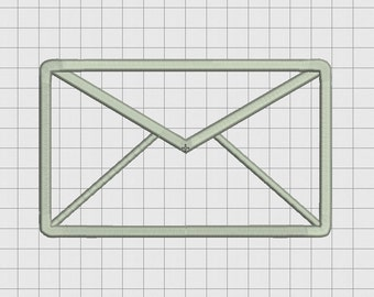 Mail Letter Envelope Applique Embroidery Design in 3x3 4x4 and 5x7 Sizes