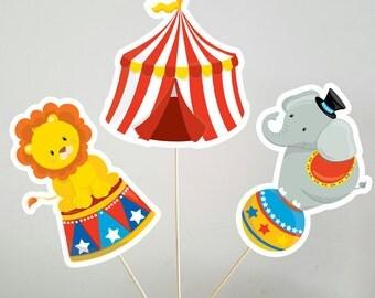 Circus Centerpieces, Circus Birthday Centerpieces, Circus Party Centerpieces