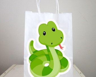 Snake Goody Bags, Snake Party Bags, Snake Favor Bags, Snake Birthday Party