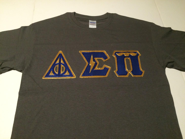 Custom greek letter shirt delta sigma pi for Where to buy greek letter shirts