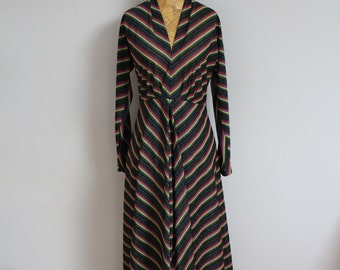 70s style disco full length evening gown size 12