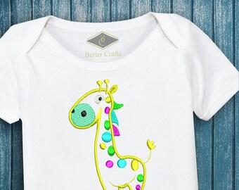 50% OFF Colorful Giraffe | Machine Embroidery Applique Design 4 Sizes