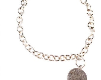 Sterling Silver Cable Chain Cremation Bracelet