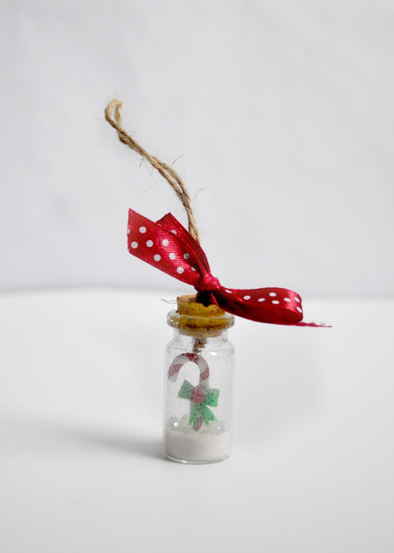 Candy cane christmas ornament candy cane handmade ornament