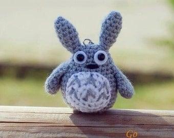 Totoro amigurumi - Totoro crochet - totoro plush - totoro doll - Amigurumi totoro - gift totoro - handmade totoro - Grey totoro